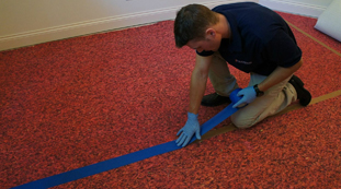 Replace Carpeting Padding from Water Damage